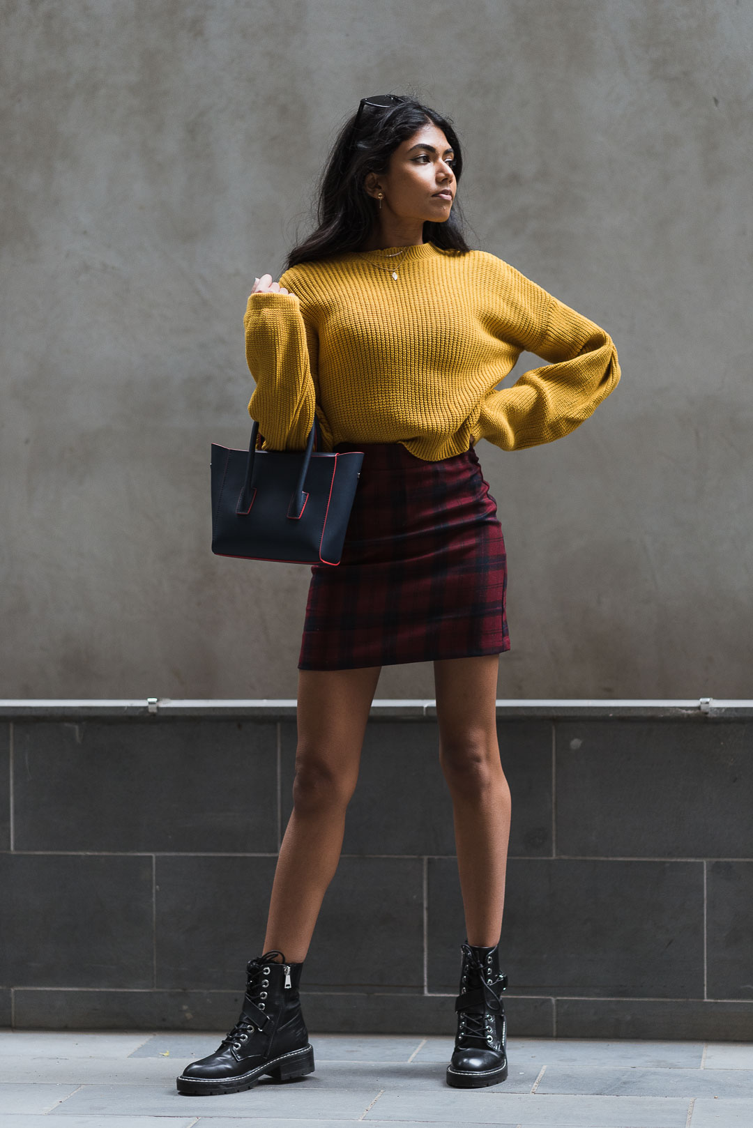 Mustard Jumper Outfit Full Length