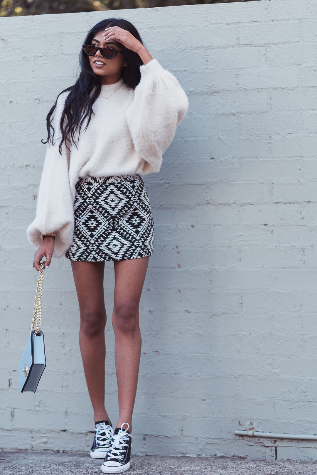 Knit and Skirt