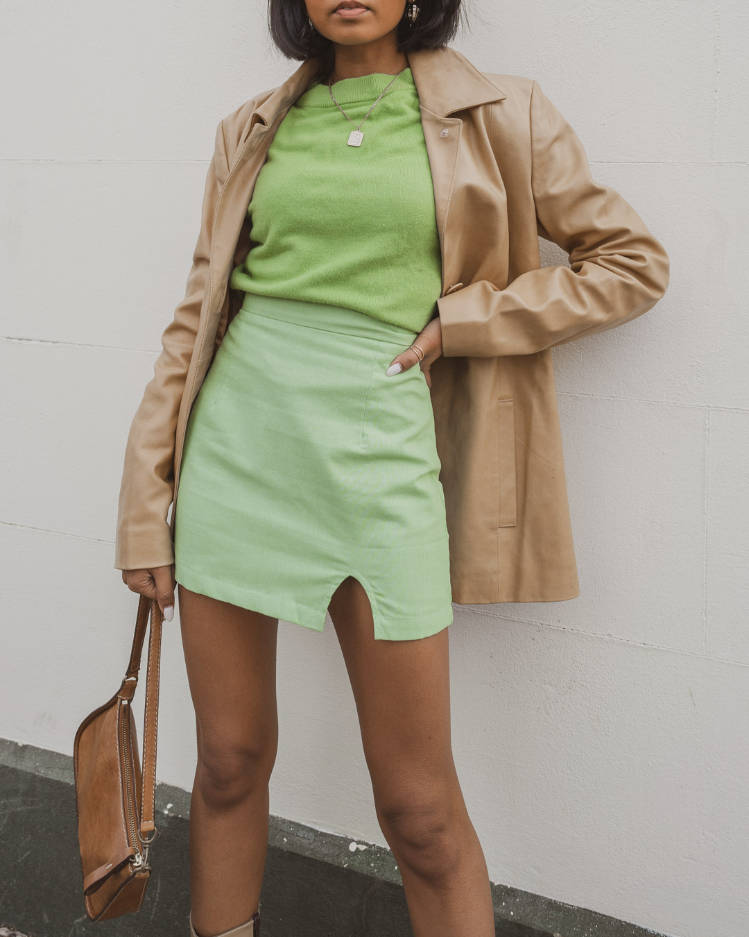 Green Outfit Image Close Up